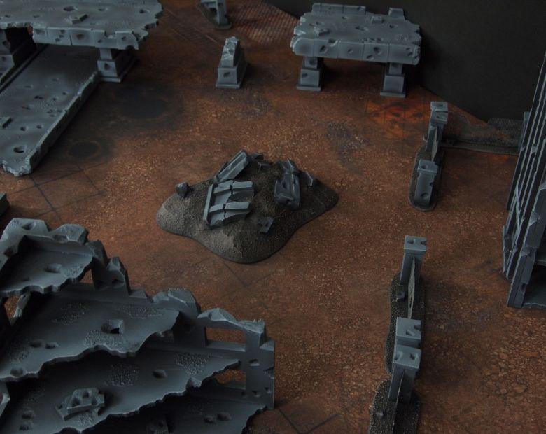 Warhammer 40k terrain fallout zone cityfight motorway highway set 9 1