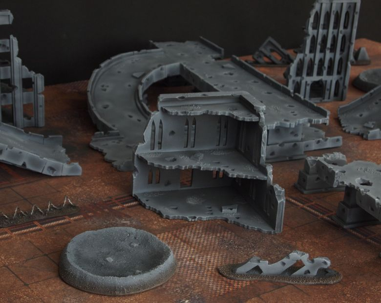 Warhammer 40k terrain fallout zone cityfight motorway highway set 9