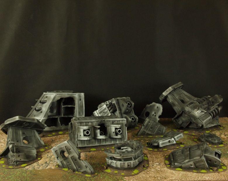 Warhammer 40k terrain grass wrecked cruiser 1