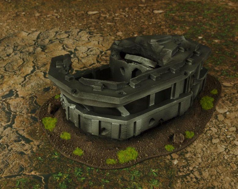 Warhammer 40k terrain grass wrecked cruiser bridge 1