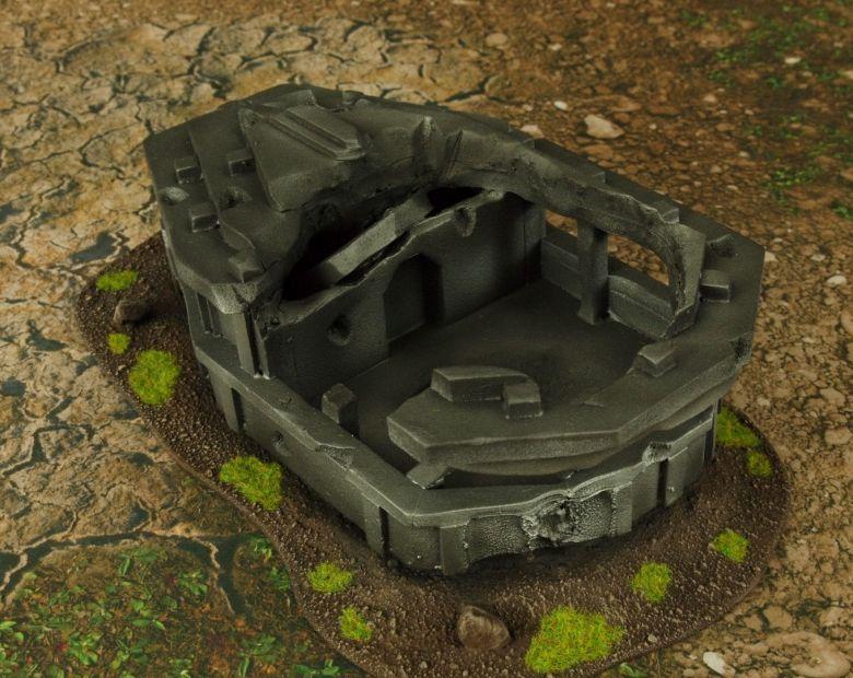 Warhammer 40k terrain grass wrecked cruiser bridge 2