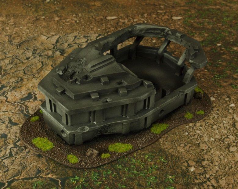 Warhammer 40k terrain grass wrecked cruiser bridge 3
