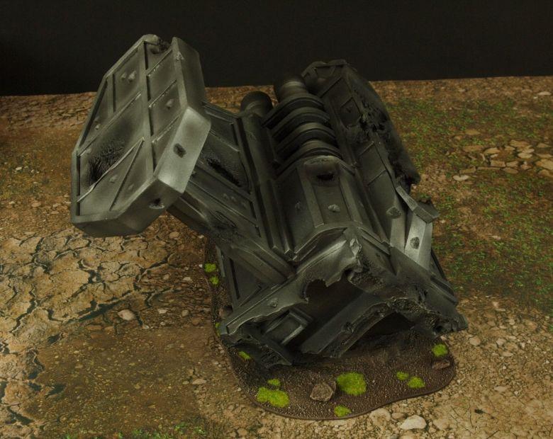 Warhammer 40k terrain grass wrecked cruiser engines 2