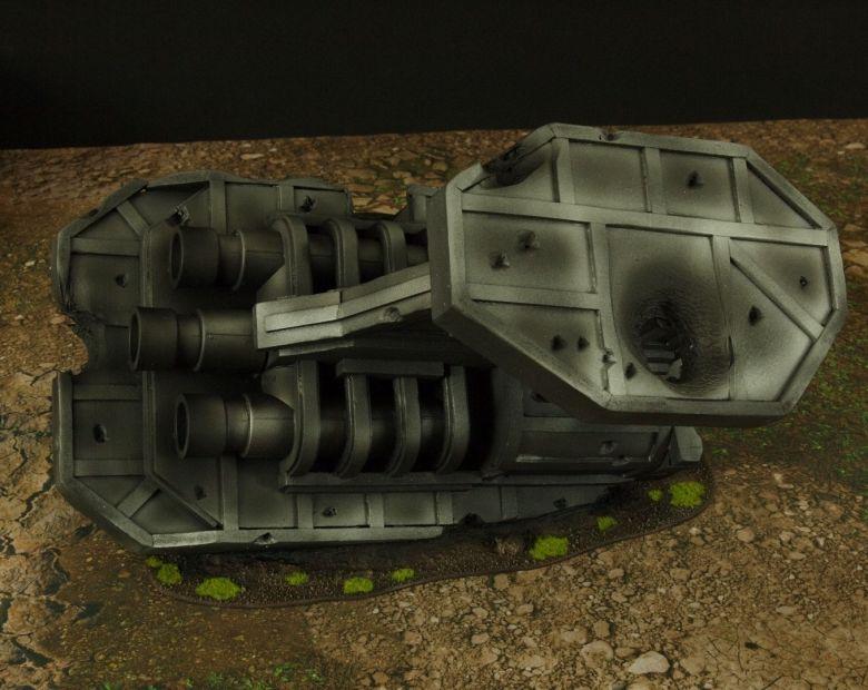 Warhammer 40k terrain grass wrecked cruiser engines 3