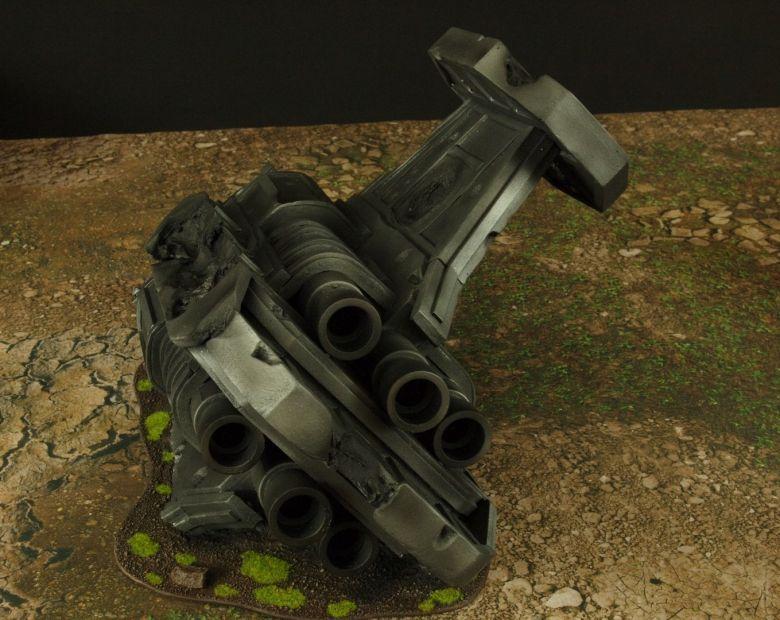 Warhammer 40k terrain grass wrecked cruiser engines 4