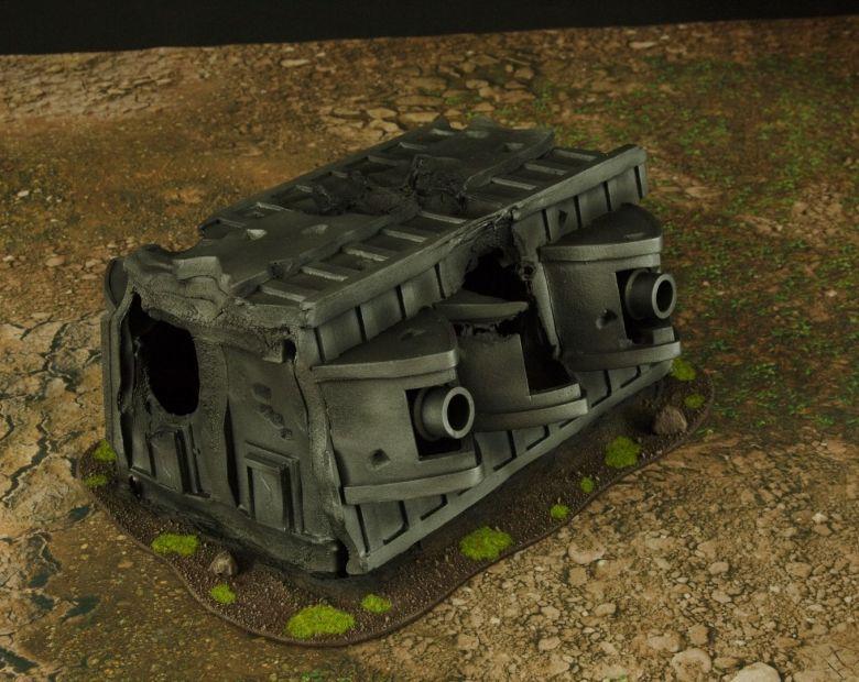 Warhammer 40k terrain grass wrecked cruiser gundeck 1