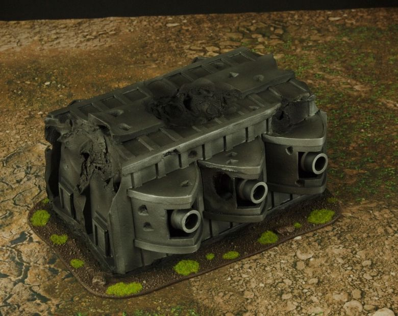 Warhammer 40k terrain grass wrecked cruiser gundeck 2