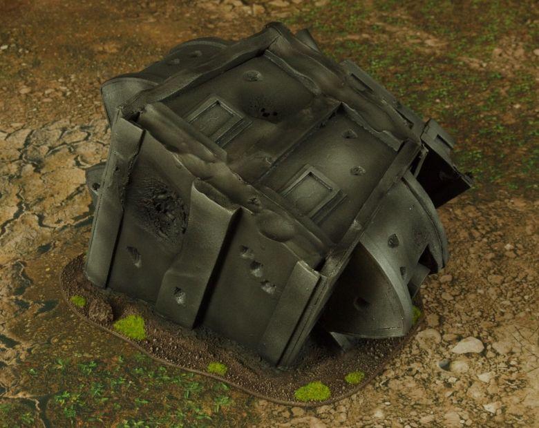 Warhammer 40k terrain grass wrecked cruiser gundeck turret 2