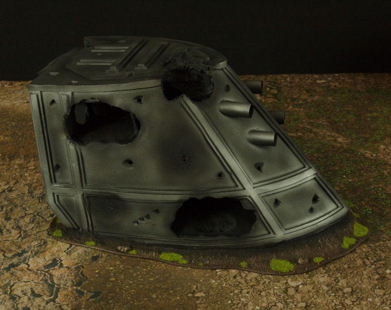 Warhammer 40k terrain grass wrecked cruiser plow 2