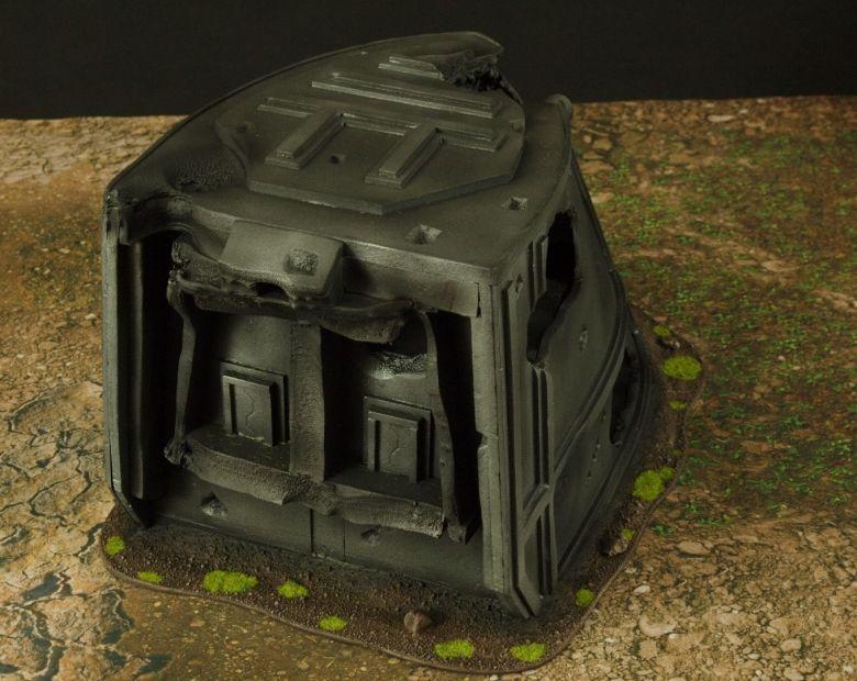 Warhammer 40k terrain grass wrecked cruiser plow 3