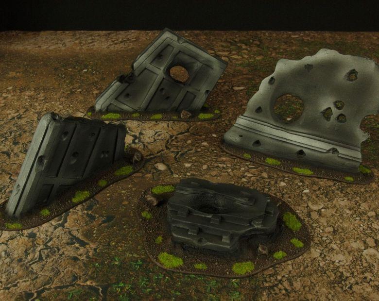 Warhammer 40k terrain grass wrecked cruiser sheating 1