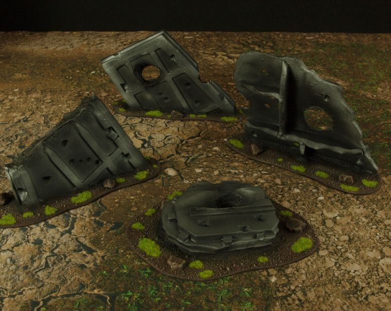 Warhammer 40k terrain grass wrecked cruiser sheating 2