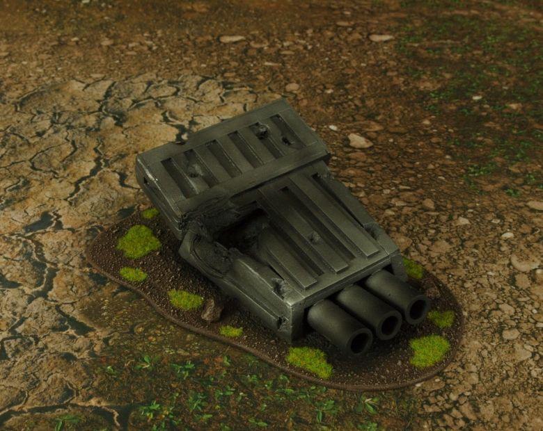 Warhammer 40k terrain grass wrecked cruiser turret 1