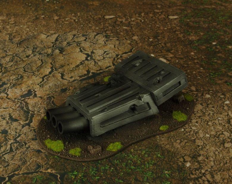 Warhammer 40k terrain grass wrecked cruiser turret 2