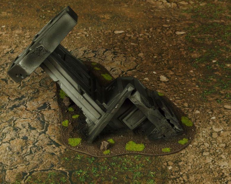 Warhammer 40k terrain grass wrecked cruiser wing 2