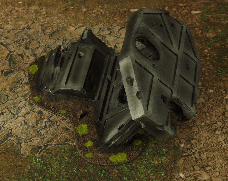 Warhammer 40k terrain grass wrecked cruiser wing 3