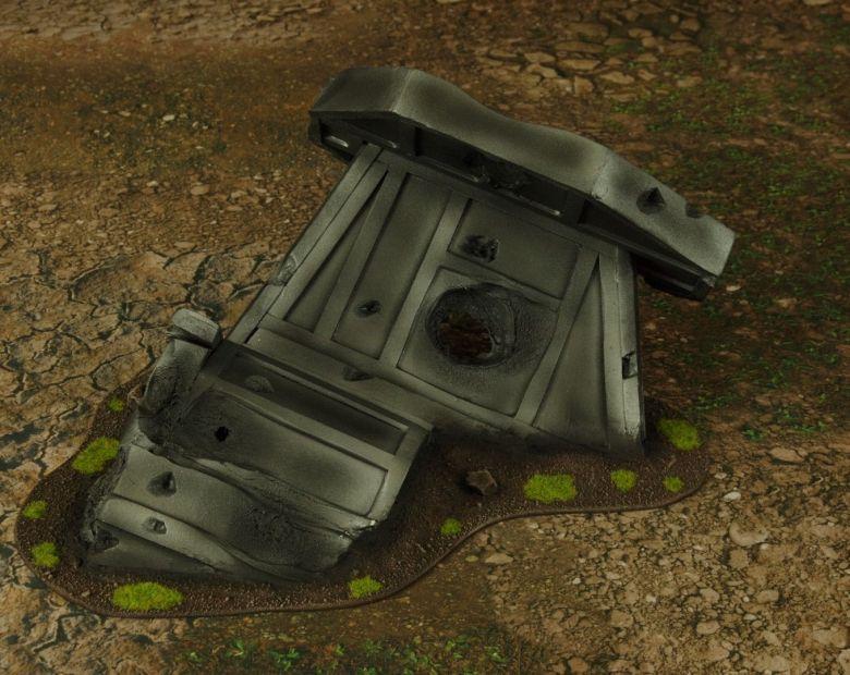 Warhammer 40k terrain grass wrecked cruiser wing 4