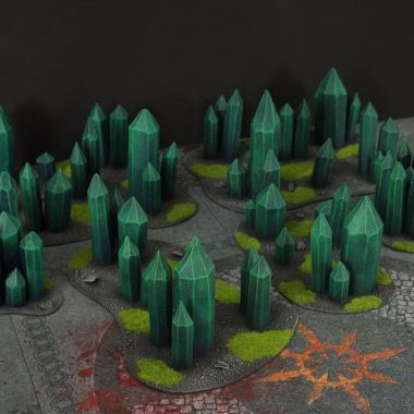 Crystal Terrain Set - WargameTerrainFactory - Miniatures War Game Terrain & Scenery