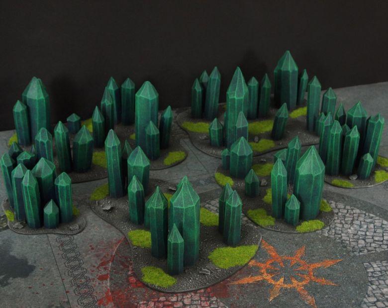 Warhammer 40k terrain necron set crystal crystals 1