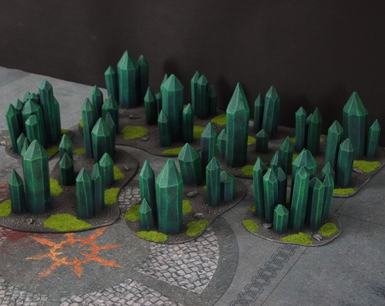 Warhammer 40k terrain necron set crystal crystals 2