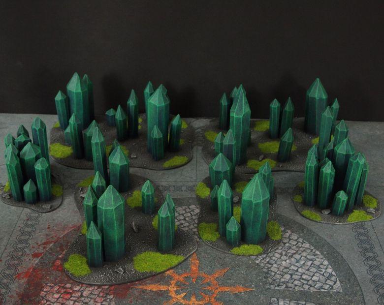 Warhammer 40k terrain necron set crystal crystals