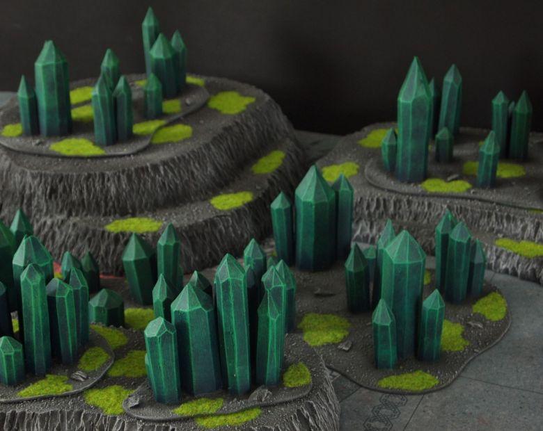 Warhammer 40k terrain necron set hills crystals 2