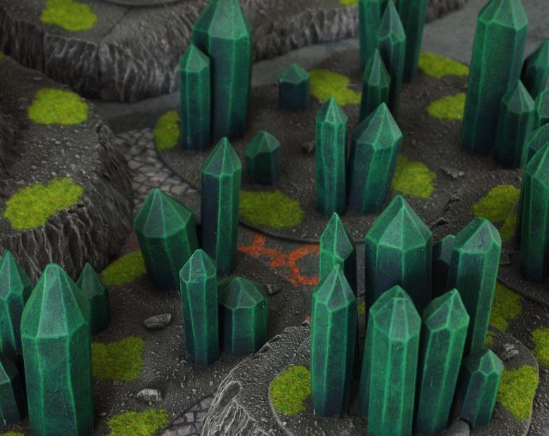 Warhammer 40k terrain necron set hills crystals 3