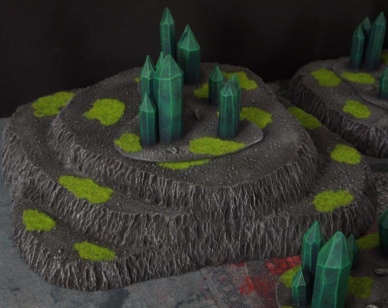 Warhammer 40k terrain necron set hills crystals 4