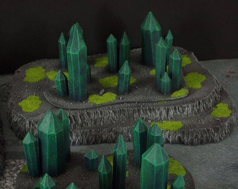 Warhammer 40k terrain necron set hills crystals 5