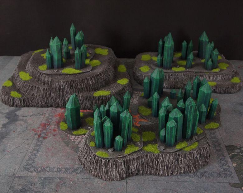 Warhammer 40k terrain necron set hills crystals
