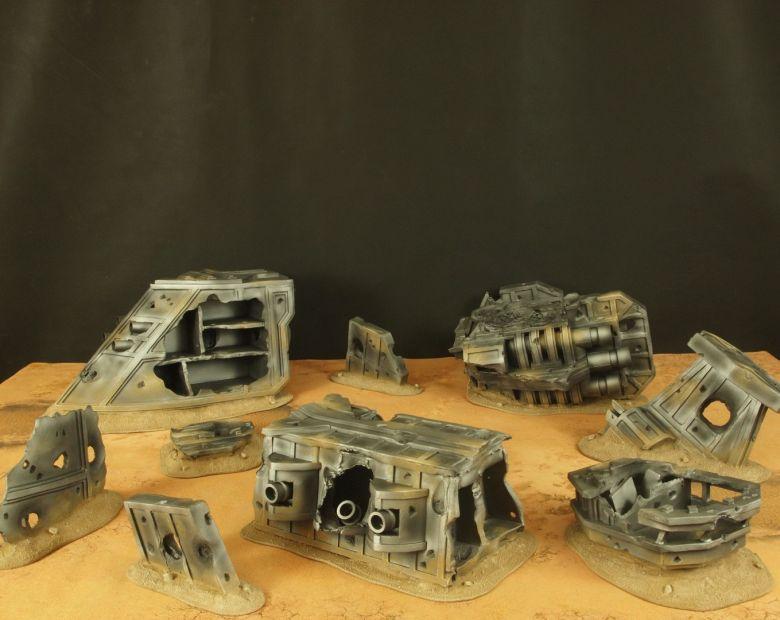 Warhammer 40k terrain wrecked cruiser 1 1