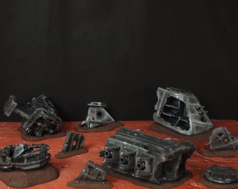 Warhammer 40k terrain wrecked cruiser 1