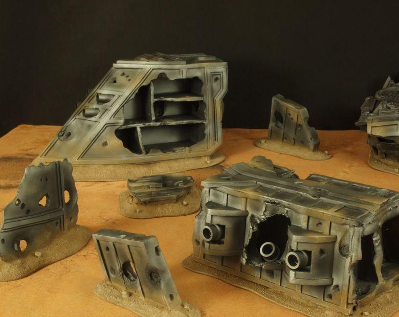 Warhammer 40k terrain wrecked cruiser 2 1