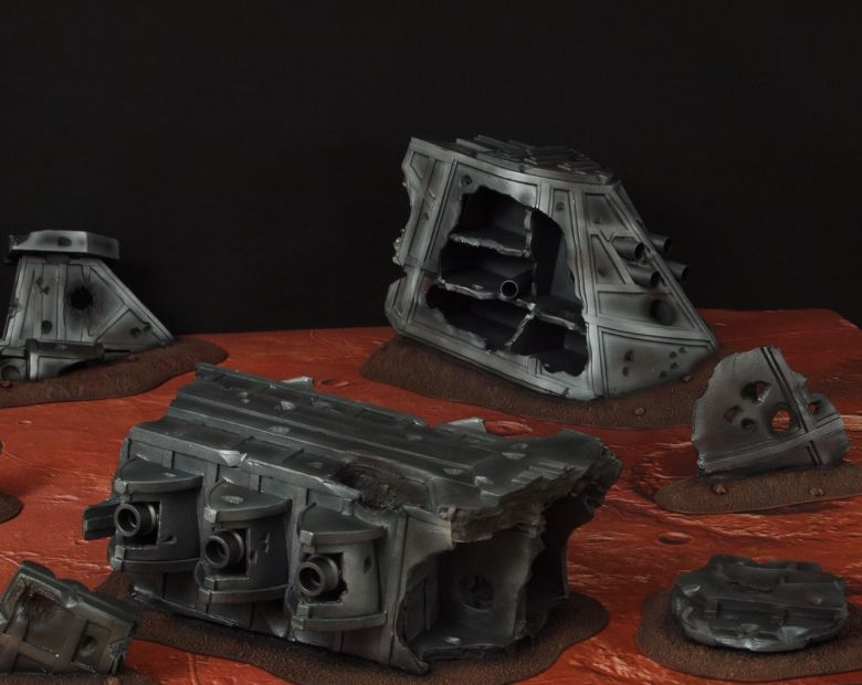 Warhammer 40k terrain wrecked cruiser 2