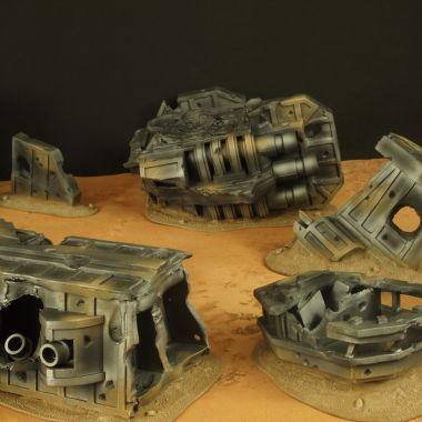 Strike Cruiser Desert - WargameTerrainFactory - Miniatures War Game Terrain & Scenery