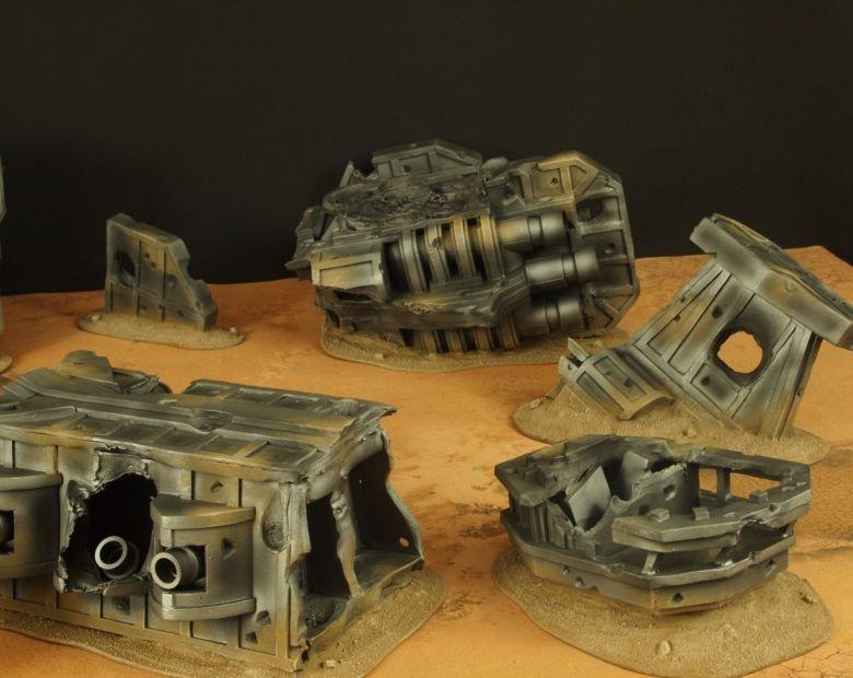 Warhammer 40k terrain wrecked cruiser 3 1