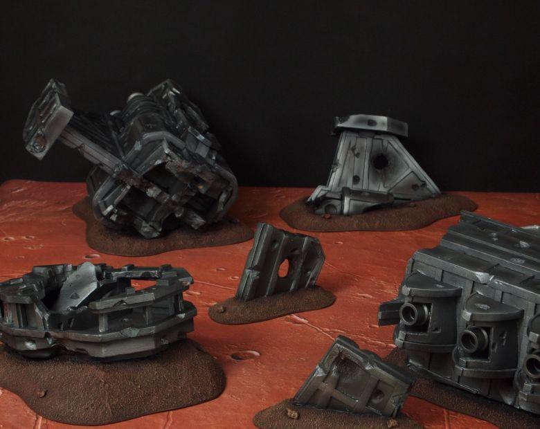 Warhammer 40k terrain wrecked cruiser 3