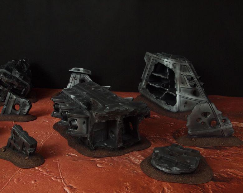 Warhammer 40k terrain wrecked cruiser 4