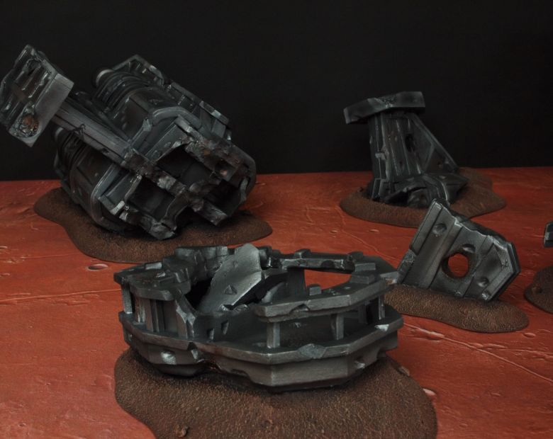 Warhammer 40k terrain wrecked cruiser 5