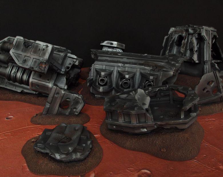 Warhammer 40k terrain wrecked cruiser 6