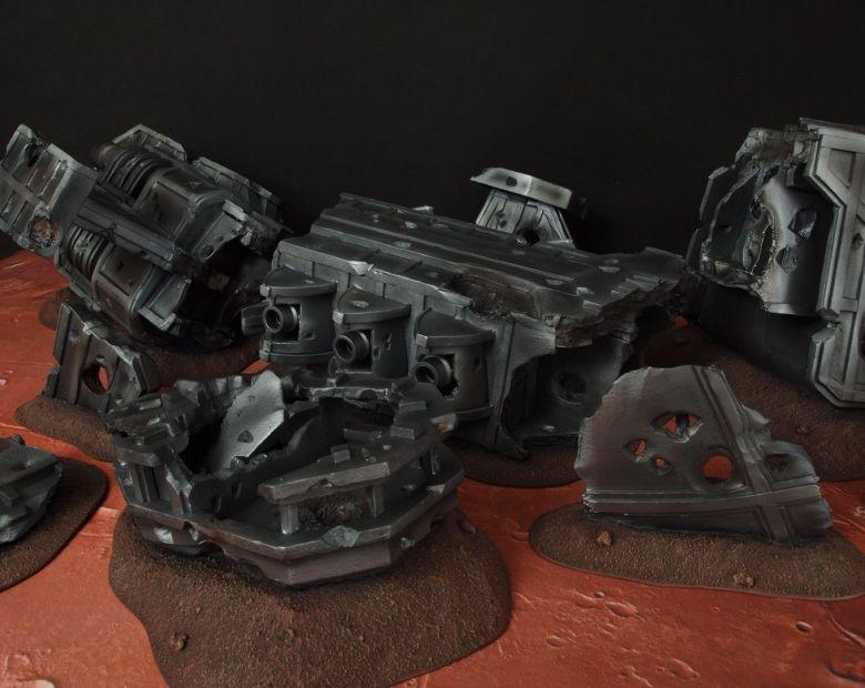 Warhammer 40k terrain wrecked cruiser 7