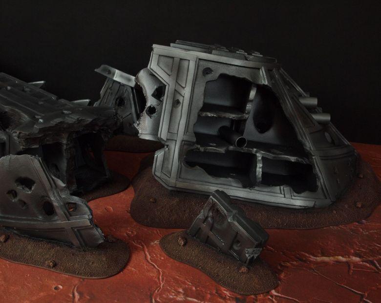Warhammer 40k terrain wrecked cruiser 8
