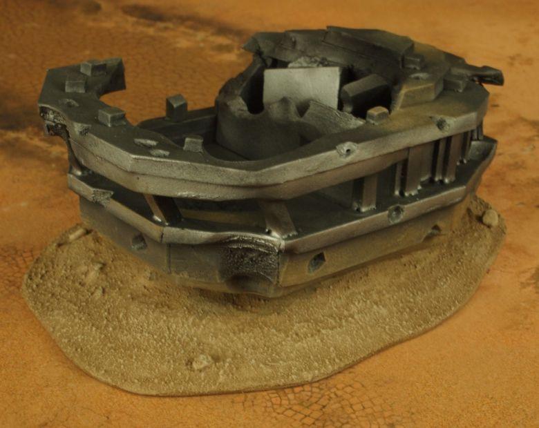 Warhammer 40k terrain wrecked cruiser bridge 1 1