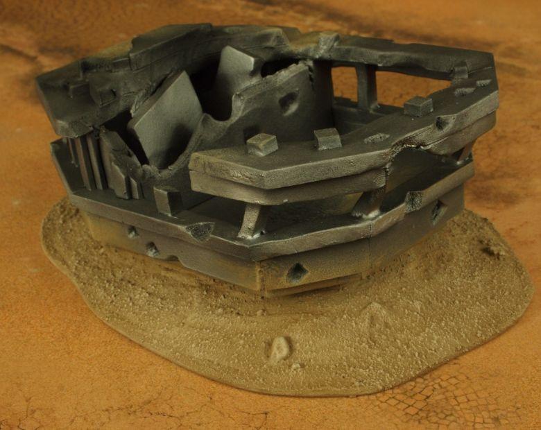 Warhammer 40k terrain wrecked cruiser bridge 2 1