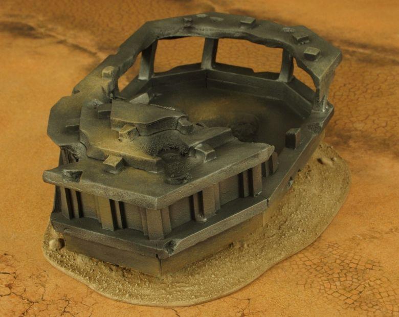 Warhammer 40k terrain wrecked cruiser bridge 3 2