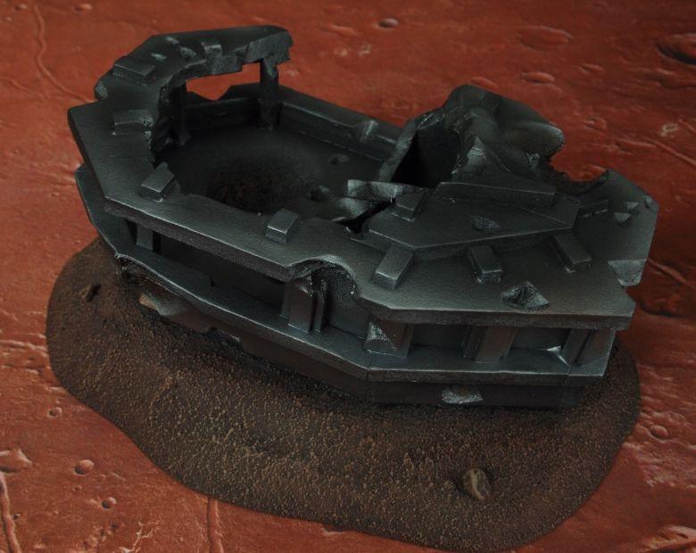 Warhammer 40k terrain wrecked cruiser bridge 3