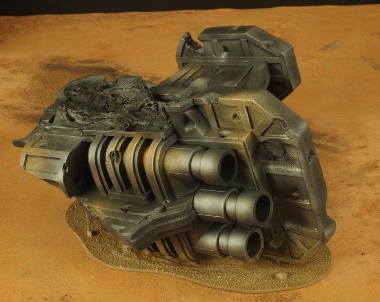 Warhammer 40k terrain wrecked cruiser engines 1