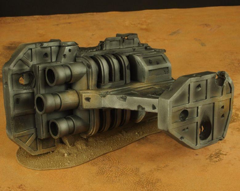 Warhammer 40k terrain wrecked cruiser engines 2