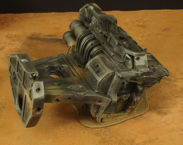 Warhammer 40k terrain wrecked cruiser engines 3