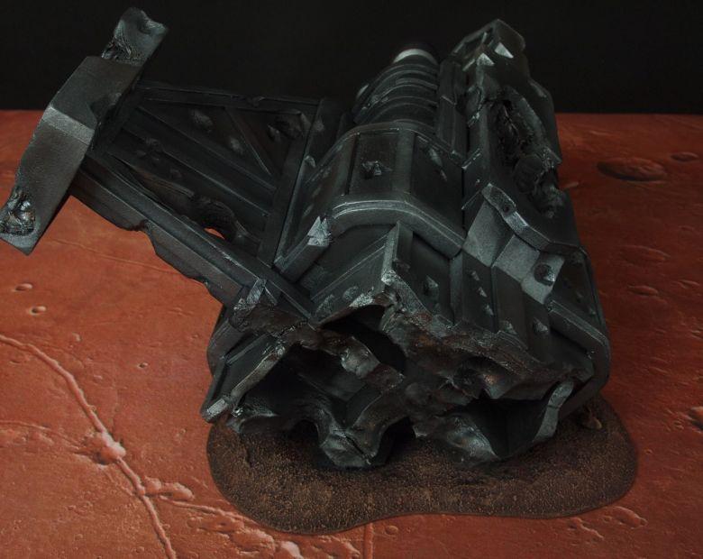 Warhammer 40k terrain wrecked cruiser engines wing 4
